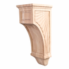 Hardware Resources - COR14-2MP - Scalloped Mission Style Corbel - Hard Maple