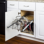 "Hardware Resources - Cookware Lid Pullout Organizer for 15"" Base Cabinet. - MPLO215-R"