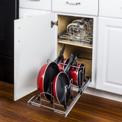 "Hardware Resources - Cookware Organizer for 15"" Base Cabinet. - MPPO215-R"