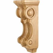 Hardware Resources - COR21-2RW - French Romanesque Corbel - Rubberwood