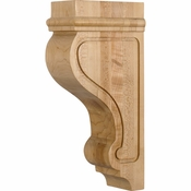Hardware Resources - COR26-1RW - Transitional Arts & Craft Corbel - Rubberwood