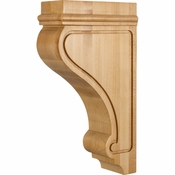 Hardware Resources - COR26-2RW - Transitional Arts & Craft Corbel - Rubberwood