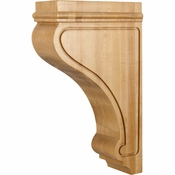 Hardware Resources - COR26-3RW - Transitional Arts & Craft Corbel - Rubberwood