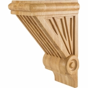 Hardware Resources - COR3-3RW - Starburst Corbel - Rubberwood