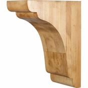 Hardware Resources - COR33-3RW - Transitional Corbel - Rubberwood