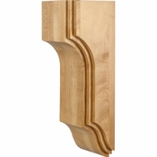 Hardware Resources - CORU-2RW - Arts & Crafts Stacked Corbel - Rubberwood