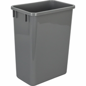 Hardware Resources - 35 Quart Plastic Waste Container, Gray. - CAN-35GRY