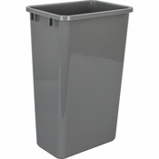 Hardware Resources - 50 Quart Plastic Waste Container, Gray. - CAN-50GRY