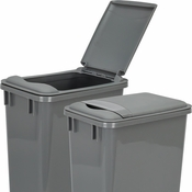 Hardware Resources - Lid for 35 Quart Plastic Waste Container, Gray. - CAN-35LIDGRY