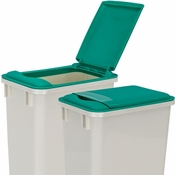 Hardware Resources - Lid for 35 Quart Plastic Waste Container, Green. - CAN-35LIDG