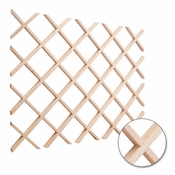 "Hardware Resources - Hard Maple 24"" x 30"" Wine Lattice Rack - Maple - WR30MP"