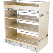 "Hardware Resources - ""No Wiggle""  11"" Base Cabinet Pullout. - White Birch - BPO2-11SC"