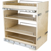 "Hardware Resources - ""No Wiggle""  14"" Base Cabinet Pullout. - White Birch - BPO2-14SC"