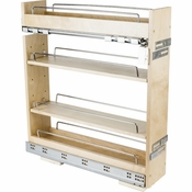 "Hardware Resources - ""No Wiggle""  5"" Base Cabinet Pullout. - White Birch - BPO2-5SC"