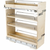 "Hardware Resources - ""No Wiggle""  8"" Base Cabinet Pullout. - White Birch - BPO2-8SC"