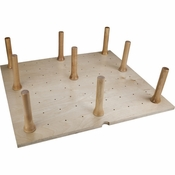 "Hardware Resources - Peg Board with 9 Pegs 24-1/2""W x 21-1/4""L x 6-5/8""H. - Birch - PEG-9"