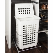Hardware Resources - Plastic  Pullout Hamper with Lid. - HP-BM1424WPC