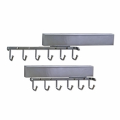 "Hardware Resources - 12"" Sliding Belt Rack. - Polished Chrome - 295B-PC"