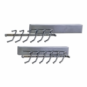 "Hardware Resources - 12"" Sliding Tie Rack. - Polished Chrome - 295T-PC"