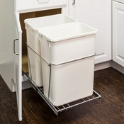 Hardware Resources - 35 Quart Double Pullout Waste Container System. - CAN-EBMDPC-R