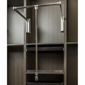"Hardware Resources - Soft-close Wardrobe Lift 25-1/2"" Expanding to 35"". - Polished Chrome - 1523SC-PC"