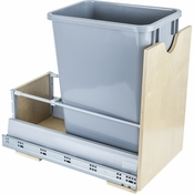 Hardware Resources - Preassembled 35 Quart Single Pullout Waste Container System. - Birch - CAN-MDBS35G