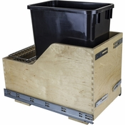 Hardware Resources - Preassembled 35 Quart Single Pullout Waste Container System. - Baltic Birch - CDM-WBMS35B