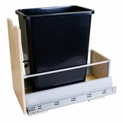 Hardware Resources - Preassembled 35 Quart Single Pullout Waste Container System. - Birch - CAN-MDBS
