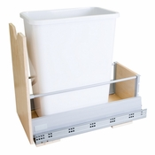 Hardware Resources - Preassembled 35 Quart Single Pullout Waste Container System. - Birch - CAN-MDBSW