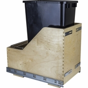 Hardware Resources - Preassembled 50 Quart Single Pullout Waste Container System. - Baltic Birch - CDM-WBMS50B