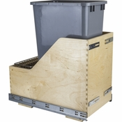 Hardware Resources - Preassembled 50 Quart Single Pullout Waste Container System. - Baltic Birch - CDM-WBMS50G