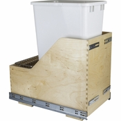 Hardware Resources - Preassembled 50 Quart Single Pullout Waste Container System. - Baltic Birch - CDM-WBMS50WH