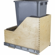 Hardware Resources - Preassembled 50 Quart Single Pullout Waste Container System. - Baltic Birch - CAN-WBMS50G