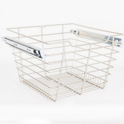 "Hardware Resources - Closet Pullout Basket 14""D x 17""W x 11""H. - Satin Nickel - POB1-141711SN"