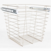 "Hardware Resources - Closet Pullout Basket 14""D x 17""W x 17""H. - Satin Nickel - POB1-141717SN"