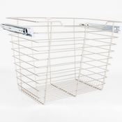 "Hardware Resources - Closet Pullout Basket 14""D x 23""W x 17""H. - Satin Nickel - POB1-142317SN"