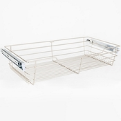 "Hardware Resources - Closet Pullout Basket 14""D x 23""W x 6""H. - Satin Nickel - POB1-14236SN"