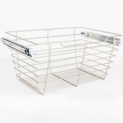 "Hardware Resources - Closet Pullout Basket 14""D x 29""W x 11""H. - Satin Nickel - POB1-142911SN"