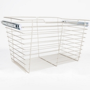 "Hardware Resources - Closet Pullout Basket 14""D x 29""W x 17""H. - Satin Nickel - POB1-142917SN"