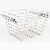 "Hardware Resources - Closet Pullout Basket 16""D x 17""W x 11""H. - Satin Nickel - POB1-161711SN"
