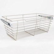 "Hardware Resources - Closet Pullout Basket 16""D x 23""W x 11""H. - Satin Nickel - POB1-162311SN"