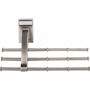 Hardware Resources - Screw Mounted Tie/Scarf Rack. - Satin Nickel - 356T-SN