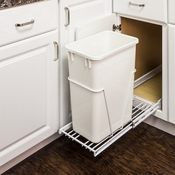 Hardware Resources - 35 or 50 Quart Single Pullout Waste Container System. - CAN-EBMSW-R