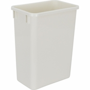 Hardware Resources - 35 Quart Plastic Waste Container, White. - CAN-35W