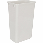 Hardware Resources - 50 Quart Plastic Waste Container, White. - CAN-50W