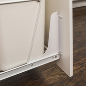 Hardware Resources - Cabinet Door Mounting Kit for Wire CAN-EBM Trashcan Pullout Series. - White Powder Coat - CAN-DOORKITW