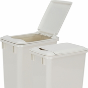 Hardware Resources - Lid for 35 Quart Plastic Waste Container, White. - CAN-35LIDW