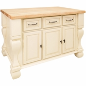 Jeffrey Alexander - Kitchen Island - Antique White - ISL01-AWH