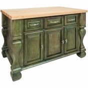 Jeffrey Alexander - Kitchen Island - Aqua Green - ISL01-AQU