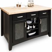 Jeffrey Alexander - Kitchen Island - Black - ISL07-BLK
